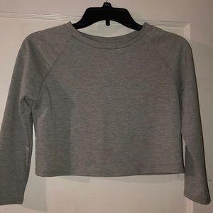 Cropped lightweight sweatshirt